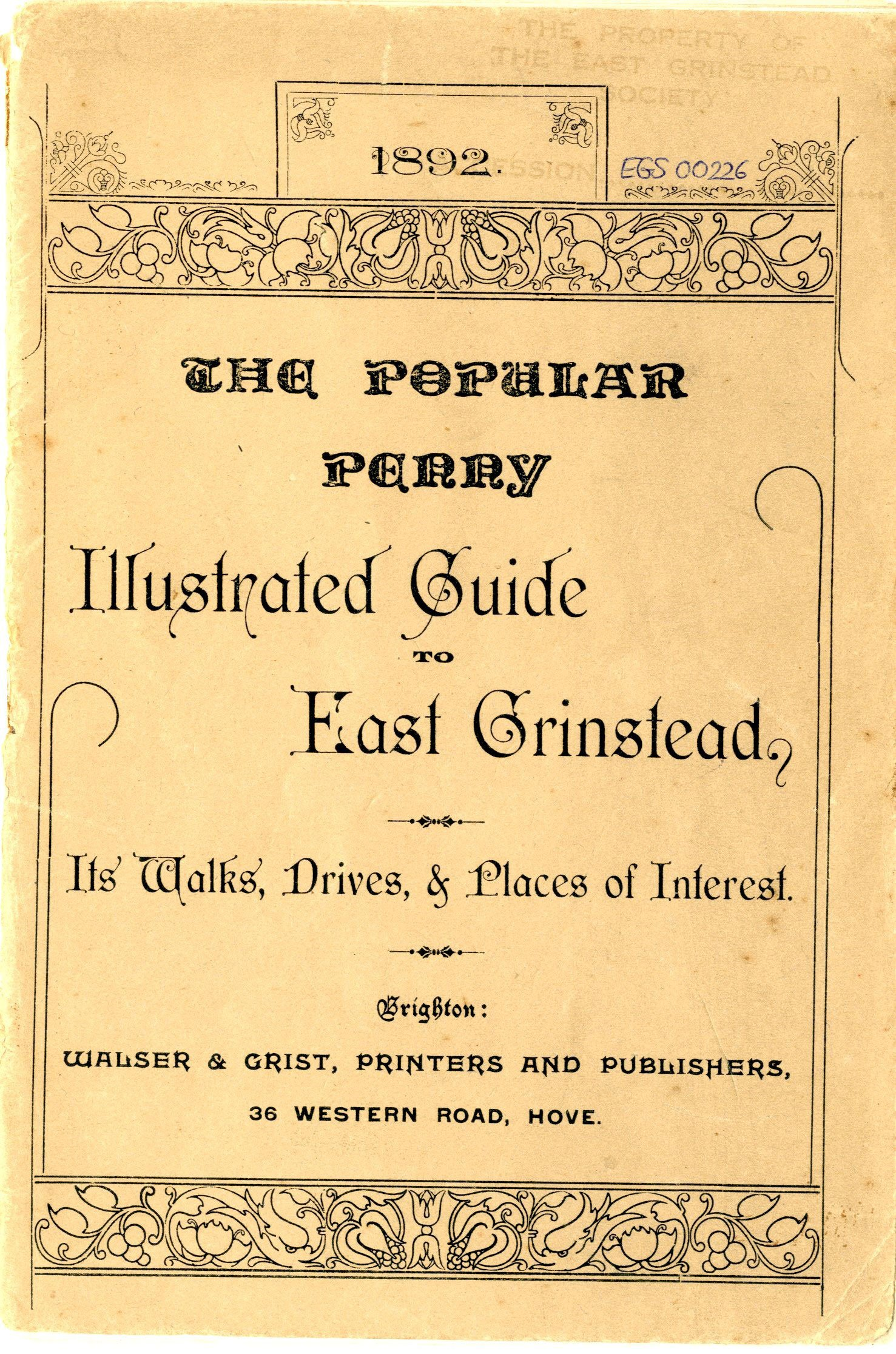 East Grinstead Museum – The Popular Penny Illustred Guide to East Grinstead