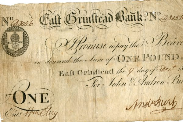 East Grinstead Museum - One Pound East Grinstead the 9th day of Dec 1815 For John & Andrew Burt