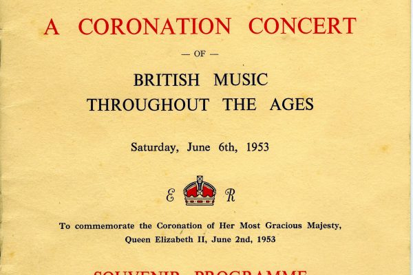 East Grinstead Museum - East Grinstead Choral Society Programme for the Coronation, 1953