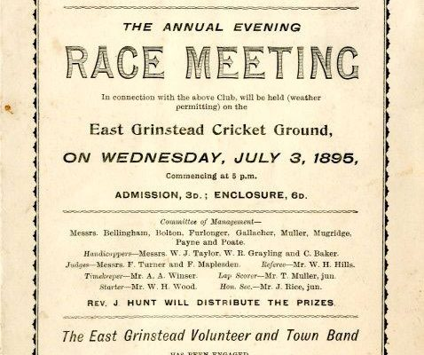 East Grinstead museum - Programme for the annual evening race meeting