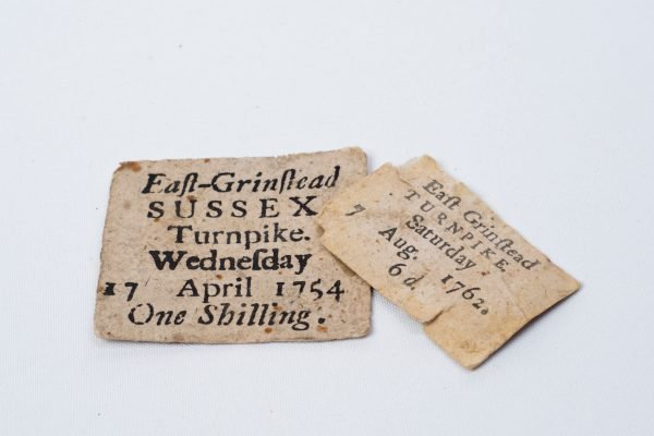 Turnpike Tickets - East Grinstead Museum