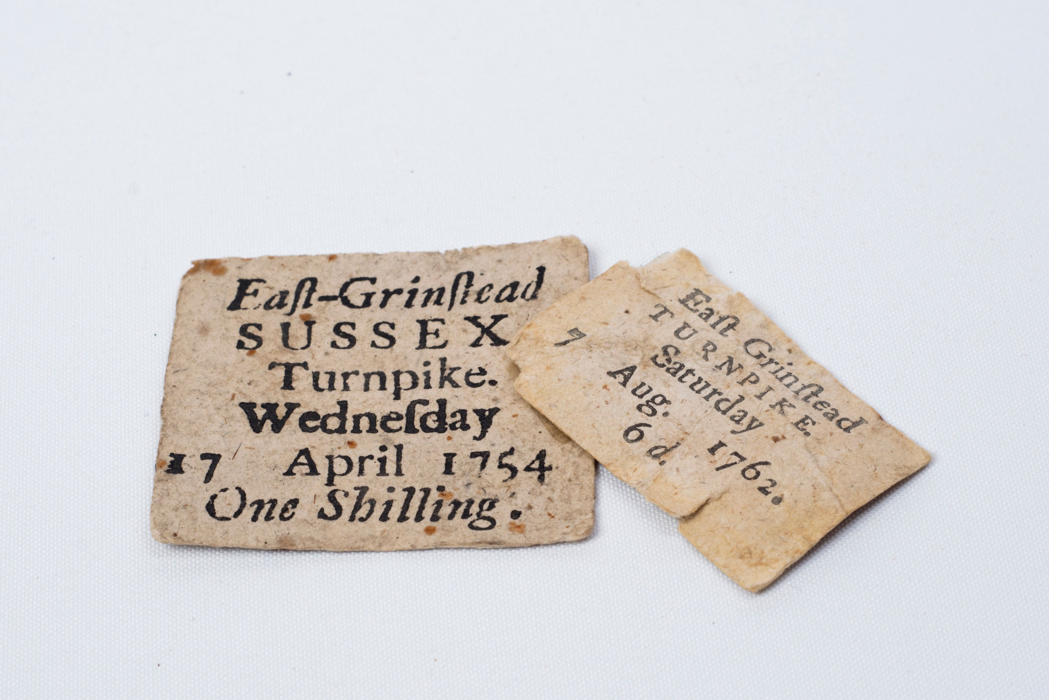Turnpike Tickets – East Grinstead Museum