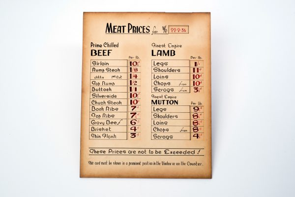Meat Prices - Early c19 Prices