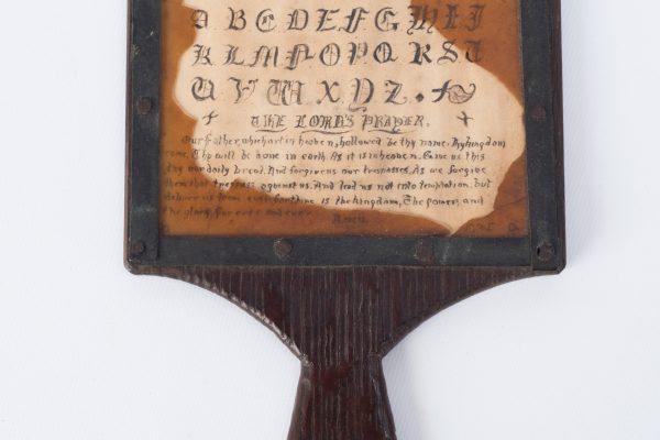 Alphabet hornbook - East Grinstead Museum