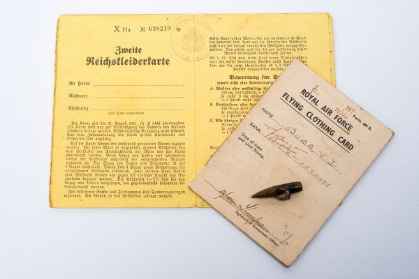 Documents and Bullet Belonging to Flight SGT Bubb